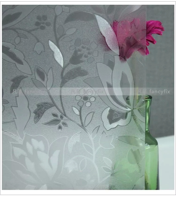 Flower tulips Matt window glass film Bathroom stickers without glue Vinyl decals visual Light Explosion proof grilles 45*100cm  цены