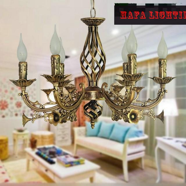Lustres Wrought Iron Chandelier E14 Candle Light Antique Iron Chandelier Industrial Home Luminaire Lava Lamps