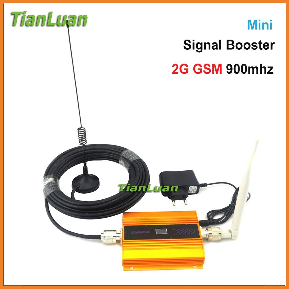 Ensemble complet GSM répéteur 2G téléphone Mobile GSM Signal Booster 900 mhz Signal amplificateur téléphone portable Booster 2G Signal répéteur or