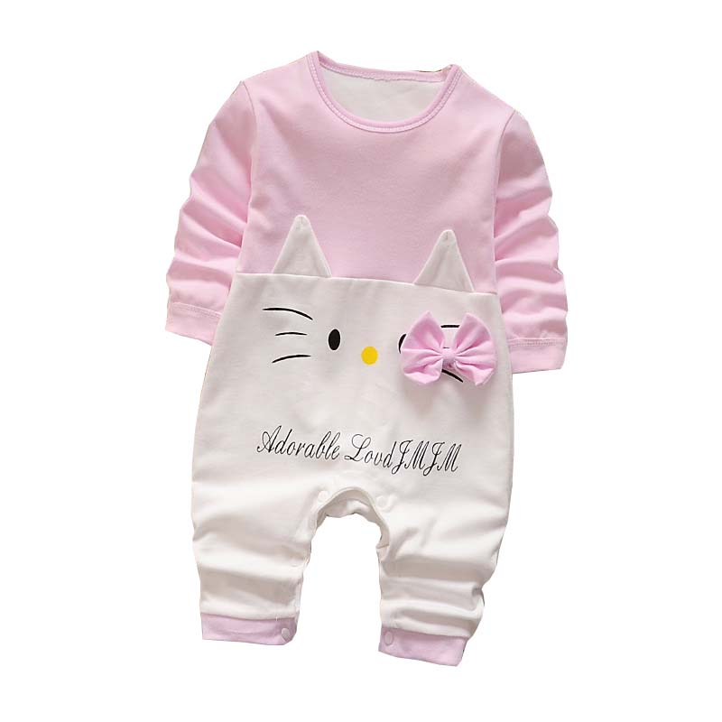 Baby Rompers Spring Baby Girls Clothing Cartoon Newborn Baby Clothes Roupas Bebe Long Sleeve Baby Boys Clothes Infant Jumpsuits цена