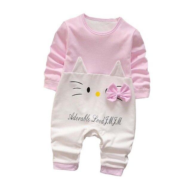 Bebé Mamelucos primavera Ropa femenina de bebé dibujos animados recién  nacido Bebé Ropa roupas bebe manga ee1fd36683a5