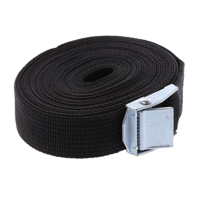 Tie Down Strap Strong Ratchet Belt Luggage Bag Cargo Lashing With Metal Buckle ratchet tie down 5mx25mm metal buckle ratchet tie down strap 10m length