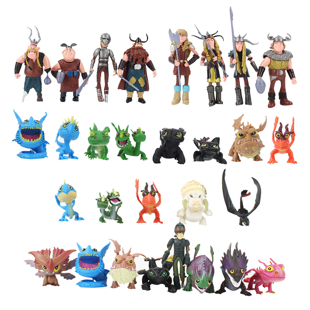 How To Train Your Dragon 2 Night Fury Toothless PVC Action Figures Cartoon Movie Model Anime Figurines Dolls Kids Toys Set