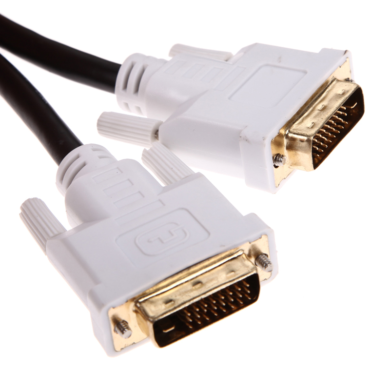 DVI-D M/M Dual Link Digital Video Cable DVI-D Dual-Link 24-pin Male to 24-pin Male 3m 9.8FT compatible for PC/Mac