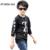 Venda quente 2016 Crianças de Veludo Camisola Roupa Dos Miúdos Pullover Quente de Espessura de Veludo Bebê Menino Roupas Camisola XL655 Grafema