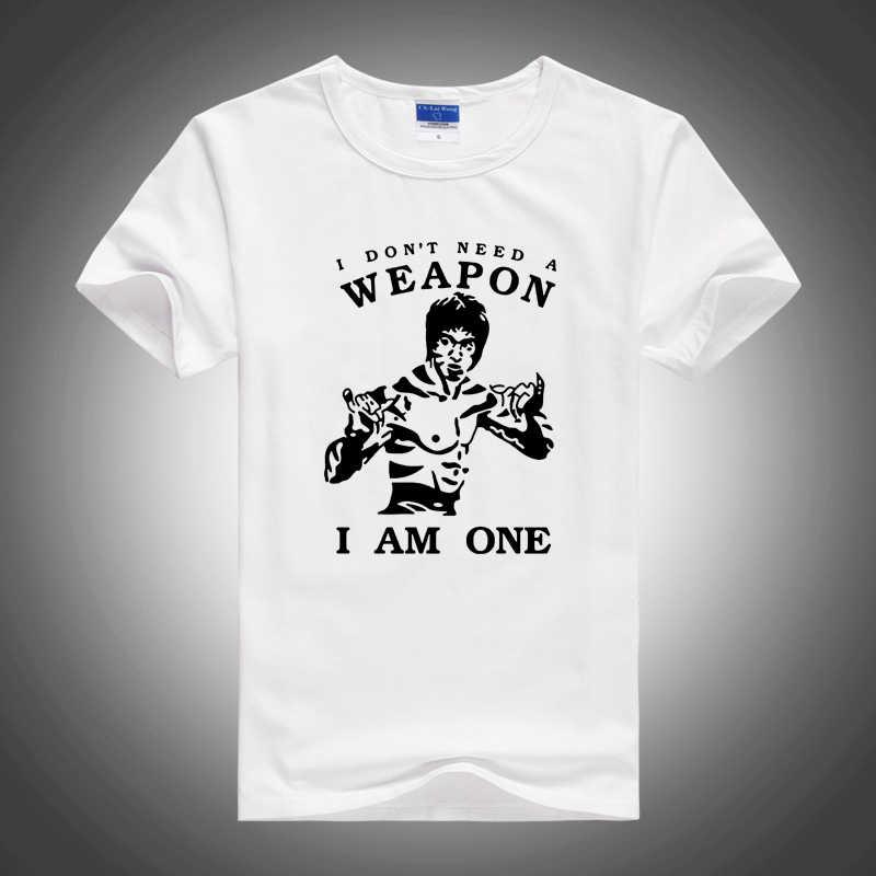Wing Chun T-shirt Taiji Top Tees Chinese Kung Fu Karakter Houten Dummy Katoen Wushu Uniformen Zomer Kleding
