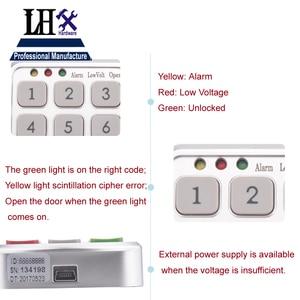 Image 3 - LHX Hardware Password Lock Digital Electronic Password Keypad Number Cabinet Code Locks Intelligent