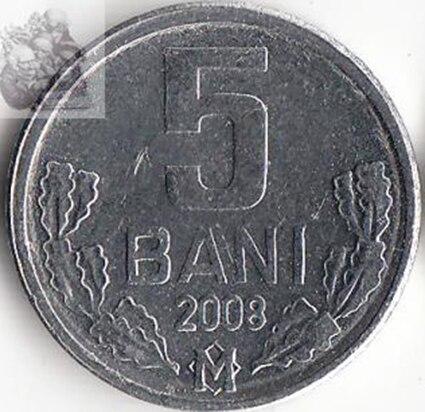 16mm Moldawien 5 Bani Münze Europäischen Ehemaligen Sowjetischen