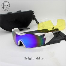 2017 latest high quality tactical glasses military goggles glasses shooting men's sports sunglasses war games multi-color option