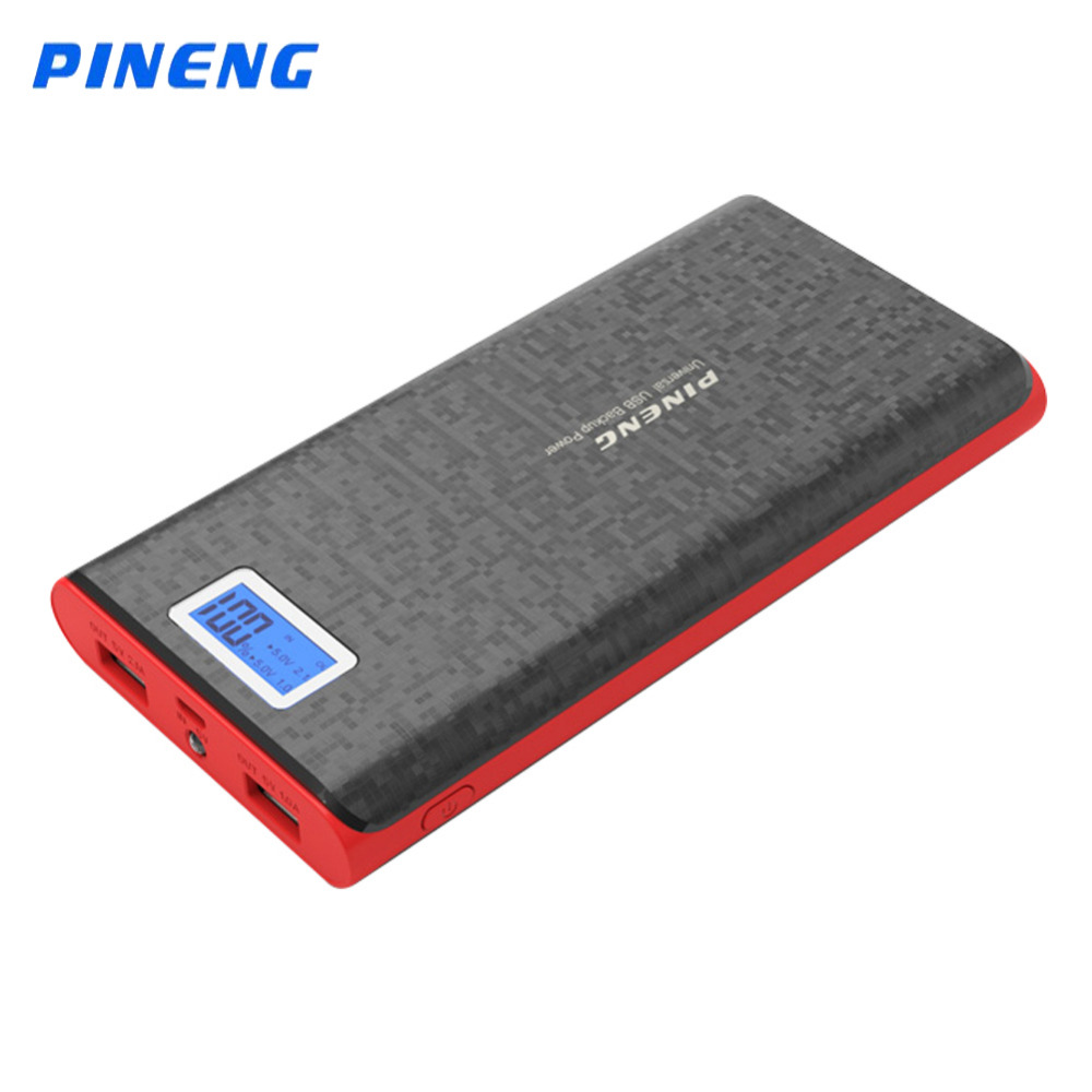 imágenes para Original Pineng 20000 mAh Li-polímero Banco de la Energía LED Indicador de Batería Cargador Externo Portátil Banco de la Energía para Smartphone PN920
