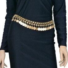خمر العتيقة الفضة اللون عملة شرابات قلادة البطن الجسم سلسلة الخصر التركية الغجر نحت شاطئ حزام مجوهرات للجسم للنساء