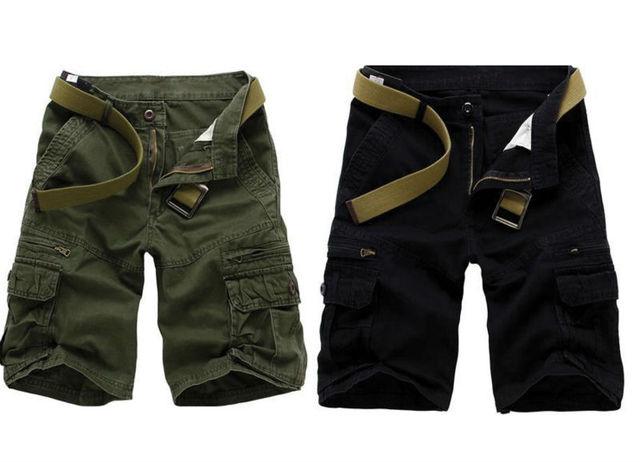2016 New Men Fashion Casual Summer Cotton Shorts Military Uniform Shorts Brand Multi-pocket Camouflage Cargo Shorts for Men