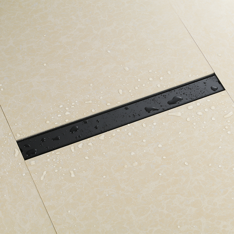 Black 600mm Odorless Invisible Floor Drain bathroom Rectangle Stainless Steel Shower room Floor Drain Linear Floor Drainer bathroom linear luxury shower floor drain srainer 304 stainless steel bathroom drains rectangle deodorization type 600mm x 68mm