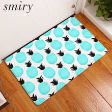 Smiry Water Absorption Welcome Home Entrance Door Mats Funny Fruit Dense  Pineapple Rugs 40*60cm