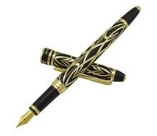 פיקאסו 901 עט נובע תחושת אהבה של פריז 18KGP בסדר ציפורן שחור & זהב משרד עסקים בית ספר כתיבה מתנה עט