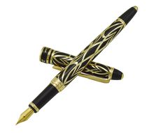 Picasso 901 Fountain Pen Amorous Feeling of Paris 18KGP Fine Nib Black & Golden Office Business School Writing Gift Pen