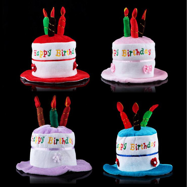 Birthday Cake Hat Children Adults Boy Girl Candle Party Hats Festival Dress Decoration