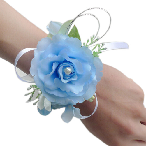 4 Pcs/lot Wrist Corsage Wristband Roses Wrist Corsage For Prom, Party,  Wedding (Light Blue) FX520 1 In Artificial U0026 Dried Flowers From Home U0026  Garden On ...