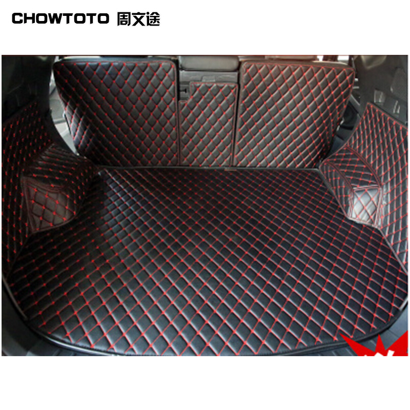 CHOWTOTO AA Custom Special Trunk Mats For Hyundai Santa Fe 5seats Durable Waterproof Carpets For Santa Fe 5 Seats Lagguge Pad
