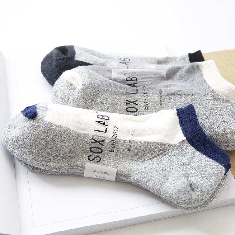 Fashion Men Socks 1 Pair Thick Cotton Casual Sport Ankle Short Invisible Socks New Autumn Winter High Quality Men's Socks