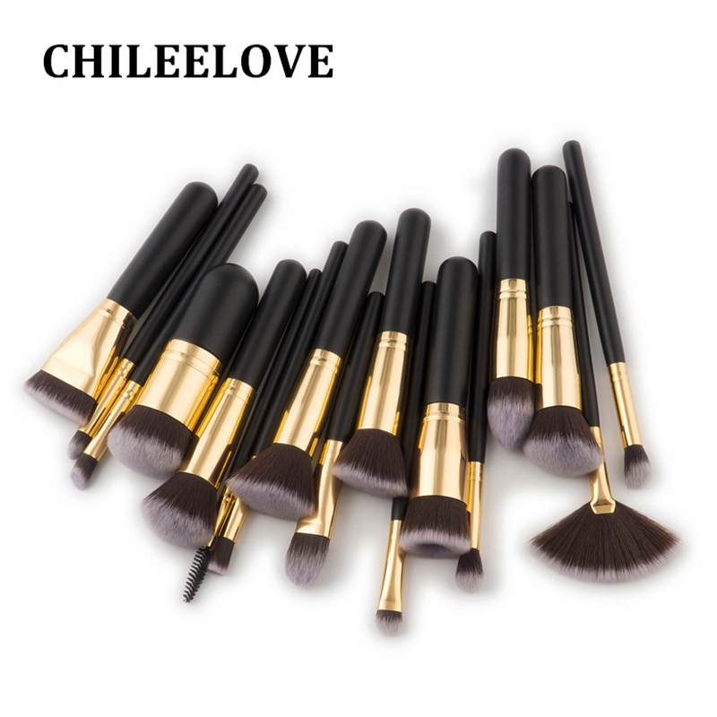 CHILEELOVE 17 Pcs High Quality Wood Handle Makeup Brush Kit Use For Powder Eyeshadow Highlight Women Cosmetic Beauty Tool 1000g 98% fish collagen powder high purity for functional food