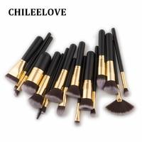 CHILEELOVE 17 Pcs High Quality Wood Handle Makeup Brush Kit Use For Powder Eyeshadow Highlight Women