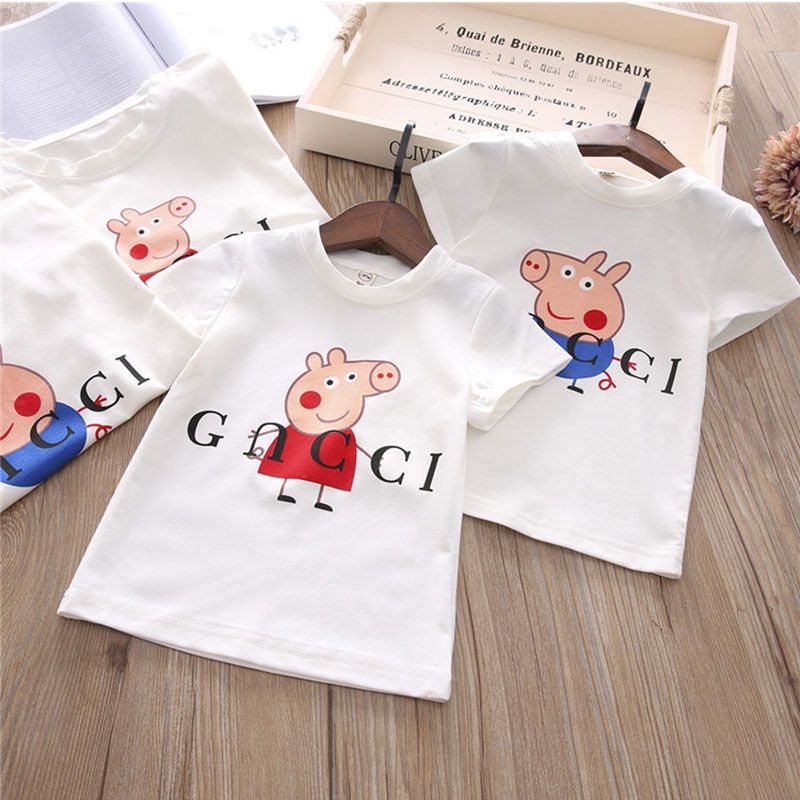 Spring Kids Girls and Boy t-shirt Long Sleeve Cotton tshirt Cartoon Animal Pig Printed Blouses Pullover Sweatshirt For Baby Hot