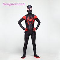 Anime cosplay spiderman costume Spider Man: Into the Spider Verse Miles Morales Halloween tights Adult and children's jumpsuit