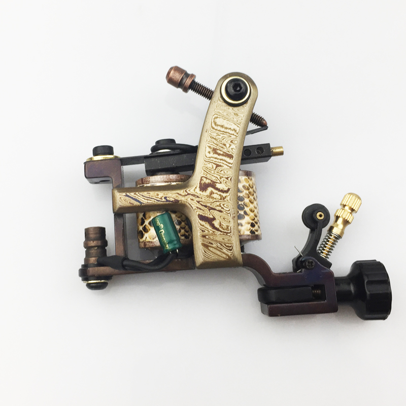 High Quality Damascus Tattoo Machine Gun coils Manual Tattoo Machine Gun 10 Wraps Coils for body tattooing салфетки hi gear hg 5585
