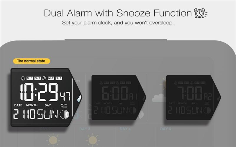 Digoo ДГ-TH8805 беспроводной прогноз погоды станция версия цвет экрана давление гигрометр влажность термометр температуры