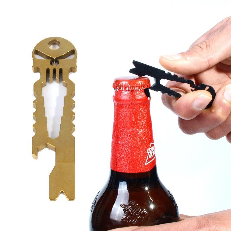 Каратель Череп Нержавеющаясталь карман Мультитулы гаджет EDC карман брелок для бутылок ключ отвертка инструмент выживания