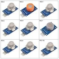 9 in 1 Gas Sensor 9pcs/lot MQ-2 MQ-3 MQ-4 MQ-5 MQ-6 MQ-7 MQ-8 MQ-9 MQ-135 Smoke Alcohol Hydrogen Sensors Kit Module for Arduino