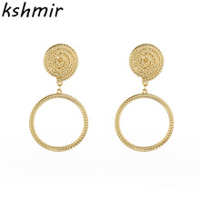 2017 fashion and exquisite new ladies earrings women round lady wholesale