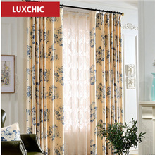Rustic Floral Herb Printed Linen Curtains for Living Room Bedroom Kitchen Elegant Window Curtains Drapes Fabric Custom Made