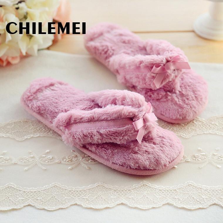 Online Shop Spring Autumn home slipper furry flip flop bedroom