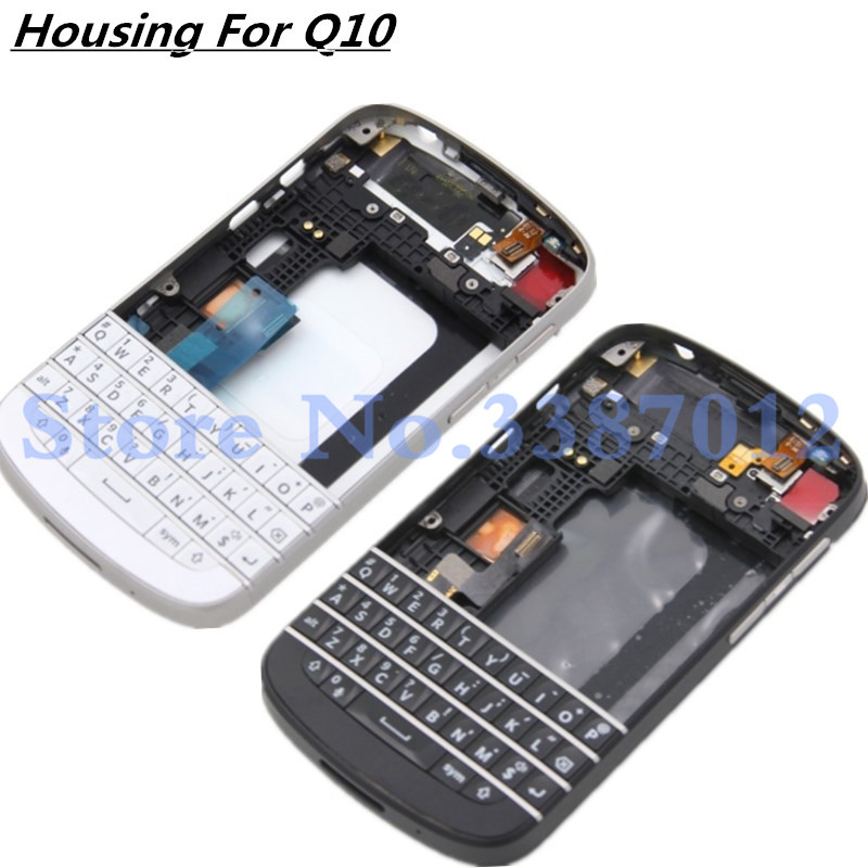 Original For Blackberry Q10 Full Complete Housing Cover Case With Keyboard Button 100% Testing Work