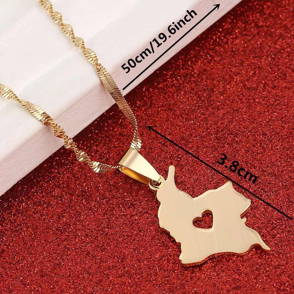 85b36b1f95d6 Collar con colgante de mapa de Colombia para mujer Mapa de joyería de Color  dorado de joyería colombiana
