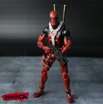 Deadpool Action Figure Red Color 6 inches Classic Edition 4