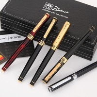 High Quality Picasso Brand Black Roller Ball Pen With Gold Carving Cap School Office Stationery Luxury