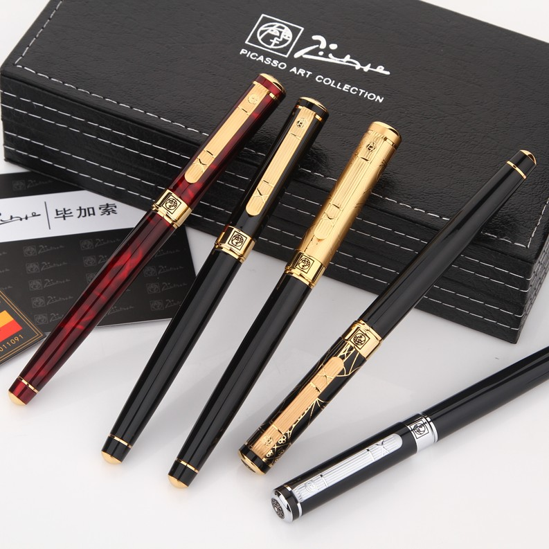 5 colors Luxury Pimio Picasso 902 brand roller ball pen stationery school office supplies elegant metal writing gift ball pens picasso pimio 960 unique design luxury fountain pen high end full metal writing ink pens fine point business gift stationery