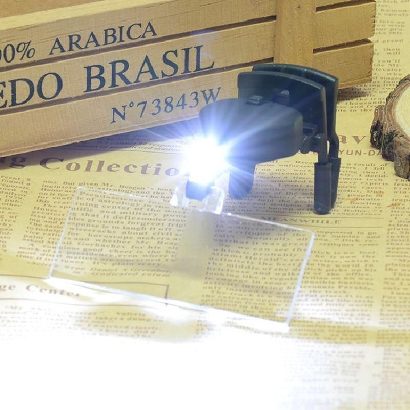 1.5X 2.5X 3.5X daugialypiai apšviečiami akinių stiklo didintuvai - Matavimo prietaisai - Nuotrauka 2