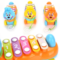 Baby Children Musical Toys 5-Note Xylophone Wisdom Development Improve Kids Sensitive To Colors Sounds Music Instrument
