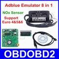 Лучшее Качество PCB Adblue Эмулятор Adblue 8in1 Код Сканер Для Грузовых Автомобилей 8 В 1 Поддержка Евро 4 & 5 & 6 С NOx Датчик Бесплатная Доставка