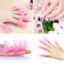 10pcs sets New Arrival Nail Tools Manicure Nail Polish Varnish Protection Clip Tip Protectors Covers Pink