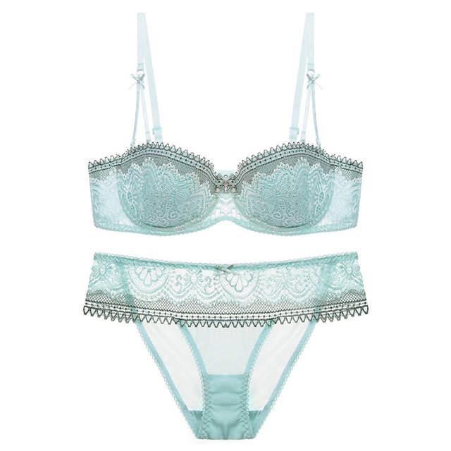 201adb40f83dd Dimissyo Women s Underwear Set Sexy Push Up Lace Half Cup Bra Set Bra and Panty  Set