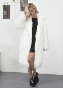 Image 4 - Euro Style Donna Falso Cappotto di Pelliccia di Inverno Nuovo Womans Lungo Faux Cappotti di Pelliccia Caldo Outwear Cappotto di Pelliccia Per La Donna di Strada partito Cappotti di Pelliccia