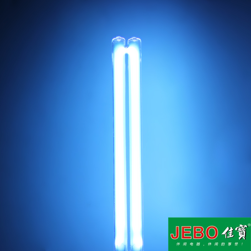 JEBO UV Sterilizer Water Filter Light Tube Replacement 2-pin G23 Base Linear Twin Tube UV-C Germicidal Ultraviolet Light Bulb