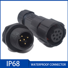 Waterproof Cable Connector Aviation Plug IP68 2/3/4/5/6/7/8/9/10/11/12 Male and Female Terminal Connectors Quickly Connected 20set lot vh3 96 3 96 mm vh3 96 2 3 4 5 6 7 8 9 10 pin connector 20pcs male 20pcs female terminal 3 96mm