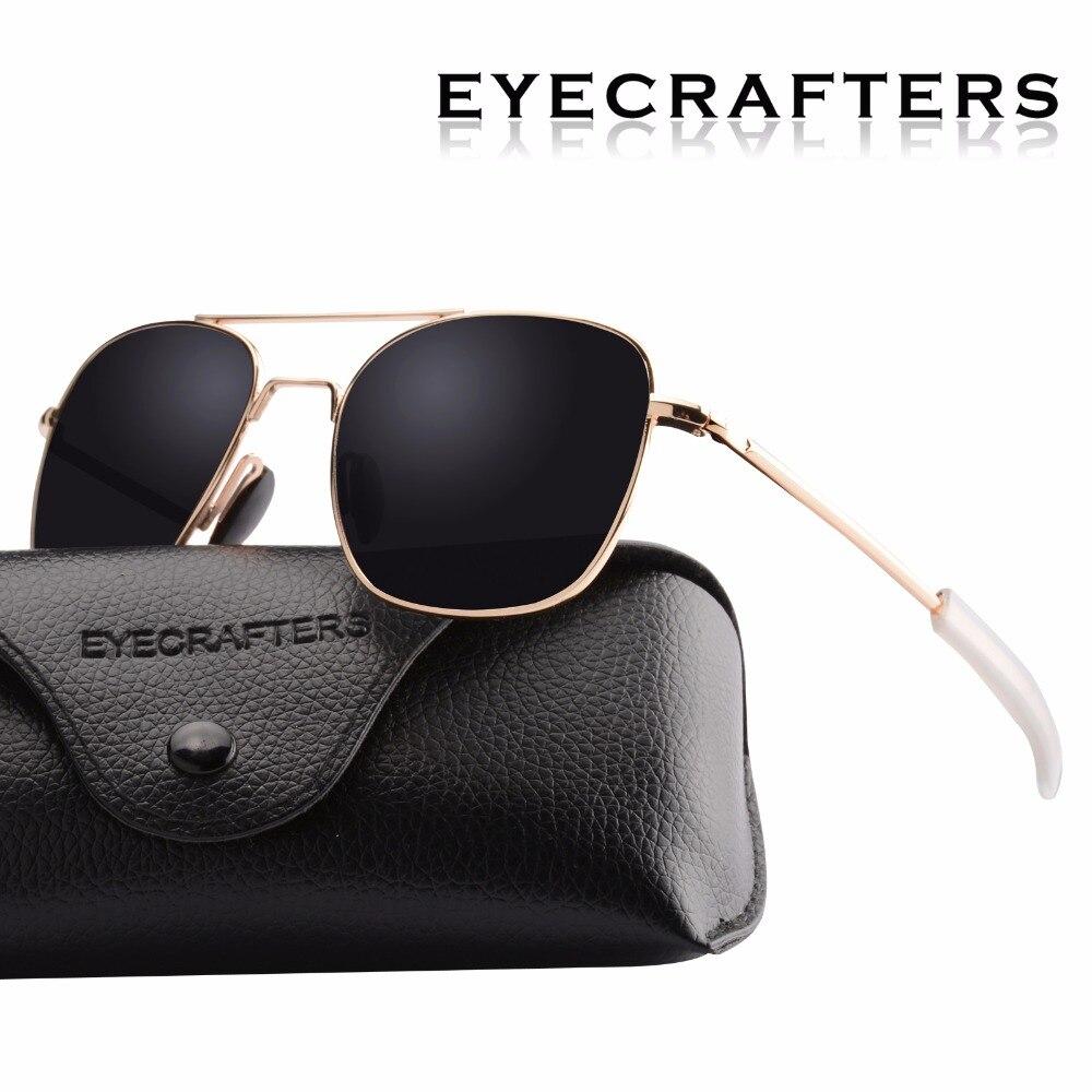 52651da04b Gold Black Brand Designer Polarized Sunglasses Mens Pilot Military  Sunglasses Outdoor Driving Sports Mirrored Glasses Eyewear