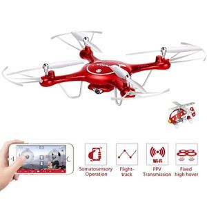 X5UW Wifi FPV 2.4Ghz Quadcopter Drone Mobile Phone Retaining Clip Control aircraft with HD Camera Flight Toys for Kids Xmas Gift